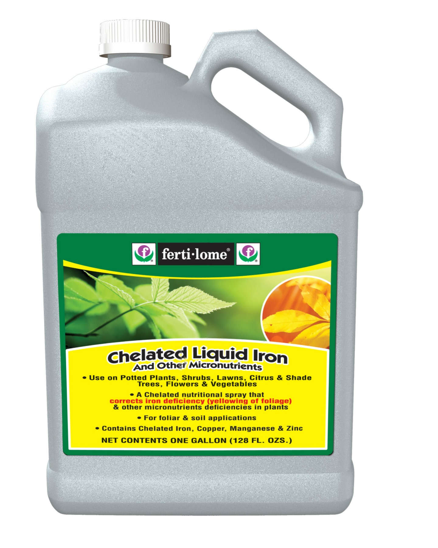 It's just a photo of Eloquent Fertilome Chelated Liquid Iron Label