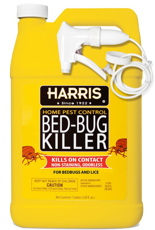 buy the harris hbb-128 harris bed bug killer spray - gallon
