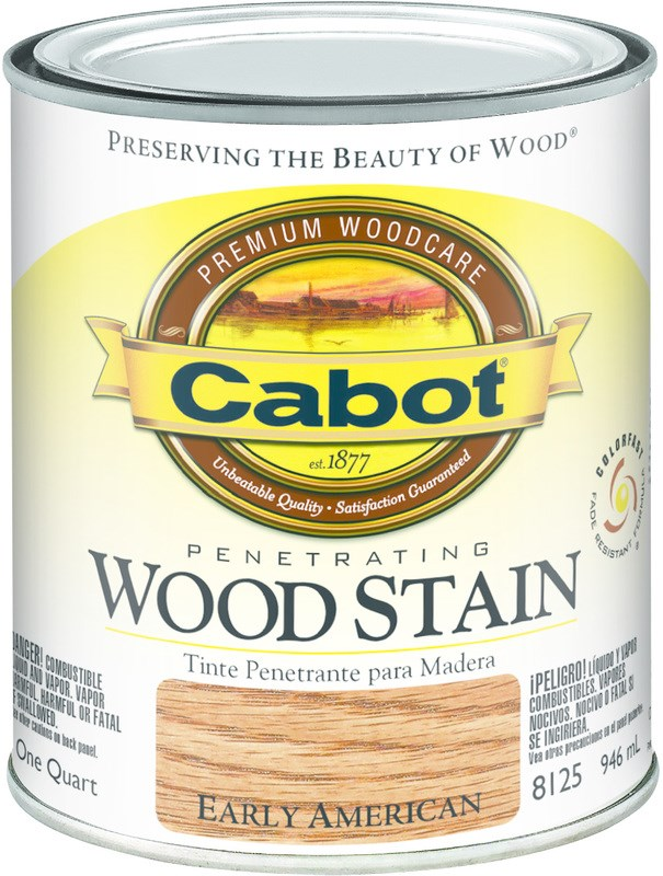 Interior Wood Stain, Early American ~ Quart. Cabot