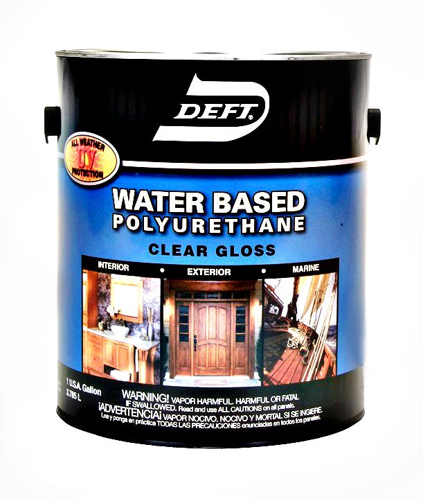 Buy the deft 25701 polyurethane finish gloss water based gallon hardware world for Exterior polyurethane wood finish
