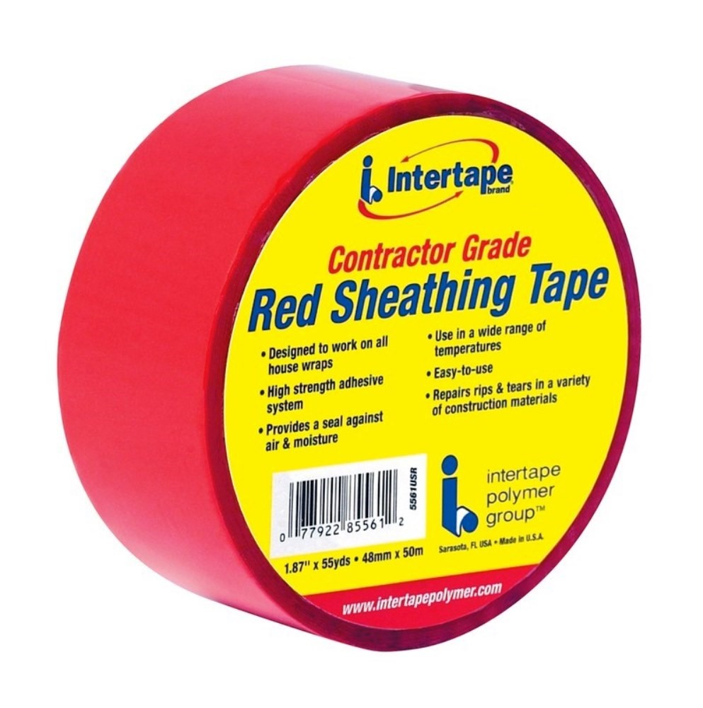 Contractor Grade Sheathing Tape, Red ~ 1 87