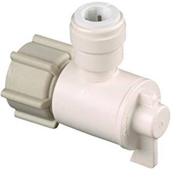 Quick Connect Angle Valve, 1 / 2 inches FPT x 3 / 8  inches CTS