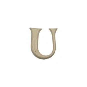 House Letter U,   Simulated Wood-Grain Letter ~ 7""