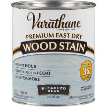 Varathane Premium Fast Dry Interior Wood Stains, Bleached Blue ~ Quart