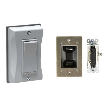 Weatherproof Decorative Cover & Switch, Gray ~ One  Gang
