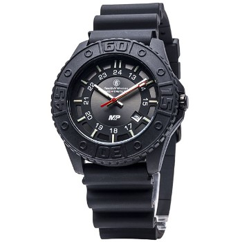 Military & Police Tritium, Black Face, Black Stainless Strap