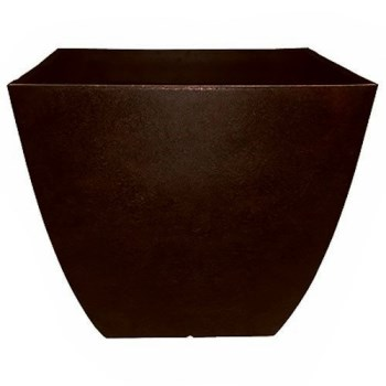 Newland Series Outdoor Square Planter,  Coffee ~ 16""
