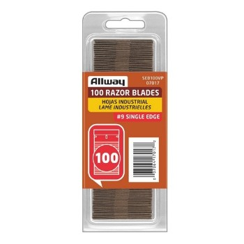 Allway SEB100 Razor Blades, Single Edge - Box of 100