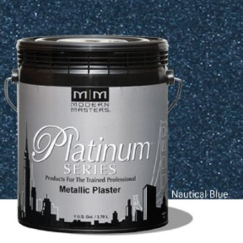 Plaster, Metallic  ~ Nautical Blue/One Gallon