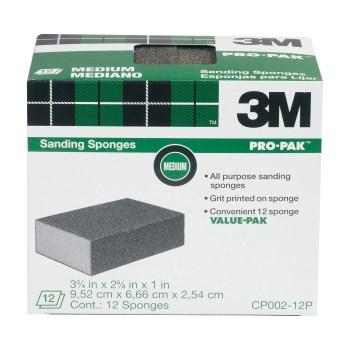 """3M CP002-12P All Purpose Medium Grit Sanding Sponges ~ 3 3/4"""" x 2 5/8"""" x 1"""""""