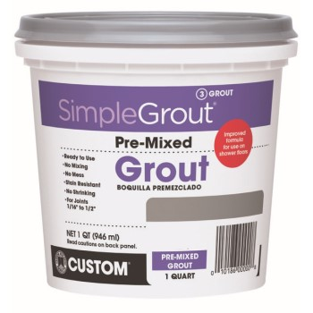 SimpleGrout Pre-Mixed Grout, Bright White ~ Quart