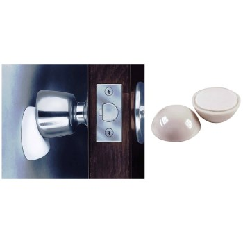 Wall-Mount Door Knob Stop, White ~  2 3/16""