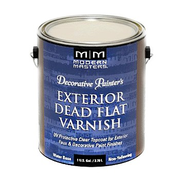 Dead Flat Varnish, Water Based Exterior  ~  Gallon
