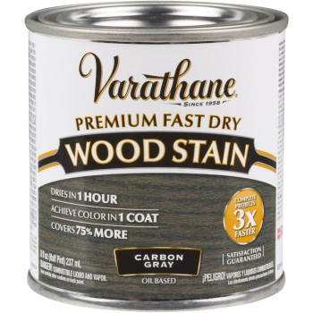 Varathane Premium Fast Dry Interior Wood Stain, Carbon Gray ~ Half Pint