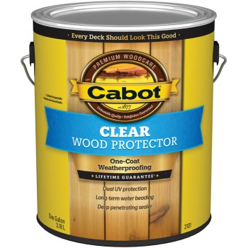 Clear Wood Protector,  Gloss ~ One Gallon