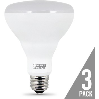 Feit Electric  BR30/10KLED/3 Non-Dimmable LED 650 Lumen Flood Bulbs, 3-Pack  ~ 65W Replacement