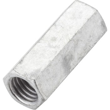 "Coupler for Threaded Rods, Galvanized ~ 5/8"" - 11"