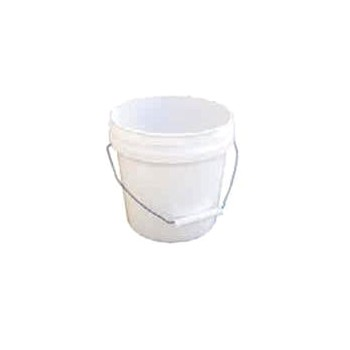 Plastic Pail, White - 1 Gallon