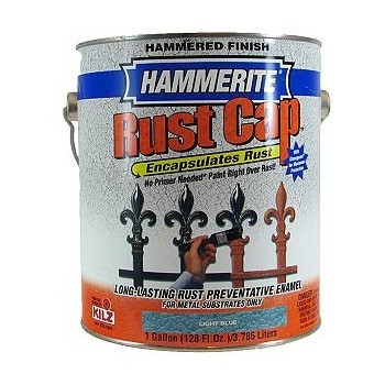 Hammerite Rust Cap Hammered Metal Finish, Light Blue ~ Gallon