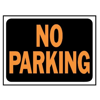 No Parking Sign, Aluminum 10 x 14 inch