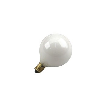 Light Bulb, Globe White 120 Volt 25 Watt