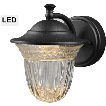 Lantern Wall Fixture, Bell Style ~ Black