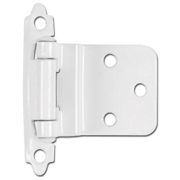 Hardware House  599928 Inset Cabinet Hinge, White ~ 3/8 inch