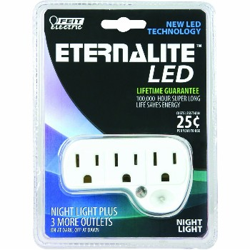 Feit Elec. NL3/LED Night Light, 3 Outlet Eternalite