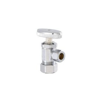 LDR Ind 537 5202 Angle Shut-Off Valve, Lead Free~3/8x5/8