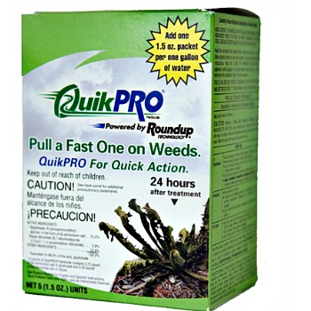 QuikPro Weed Killer Packets - Set of 6 Boxes/5 Paks Each