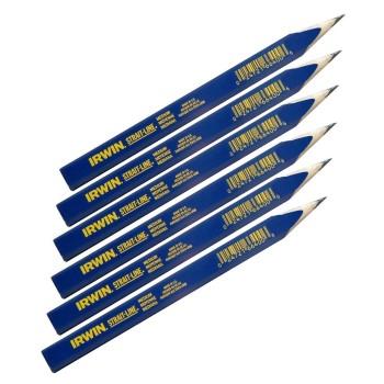 "Irwin 66305SL Carpenters Flat Pencil,  Medium Lead ~ 7"""