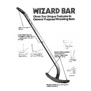 """Fulton 36WB Wizard Wrecking Bar ~ 36"""""""