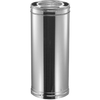 "M & G Duravent 8DP-24 All Fuel Chimney Pipe, Galvanized ~  8"" x 34"""