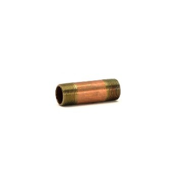 Nipple - Red Brass - 0.75 x 3 inch
