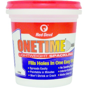 OneTime Lightweight Spackling, Pre-Mix ~ One Pint