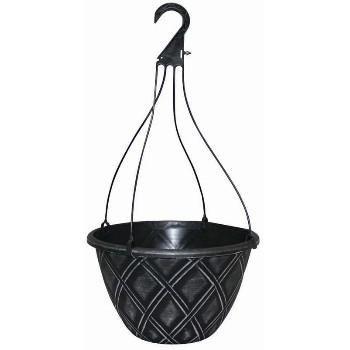 Lattice Design Hanging Basket - 12 inch