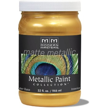 Matte Metallic Paint ~ Pale Gold, Quart