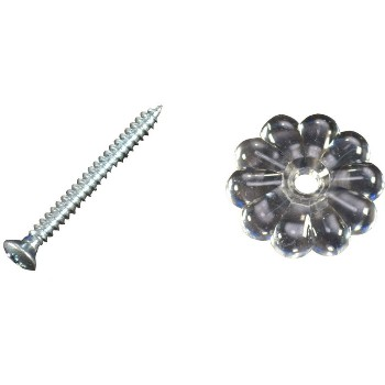 Clear Rosette W/Screw