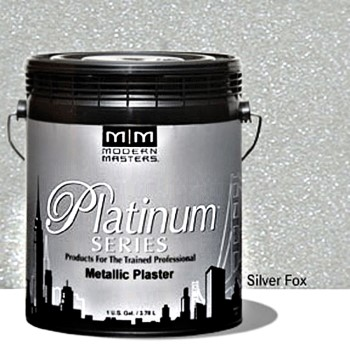 Metallic Plaster,  Silver Fox ~ Gallon