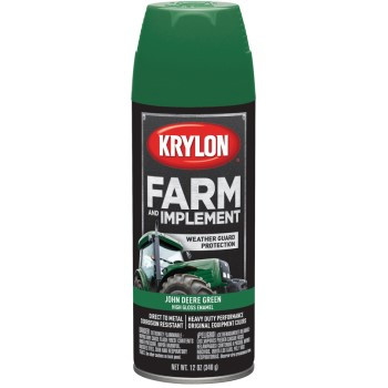 Krylon K01932000 Farm & Implement Spray Paint,  John Deere Green  ~ 12 oz Cans