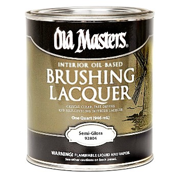 Brushing Lacquer ~ Semi-Gloss,  Quart