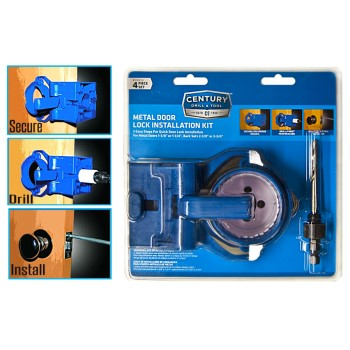 Metal Door Lock Installation Kit ~ 4 Piece