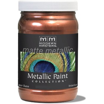 Matte Metallic Paint ~ Copper Penny, 6 oz
