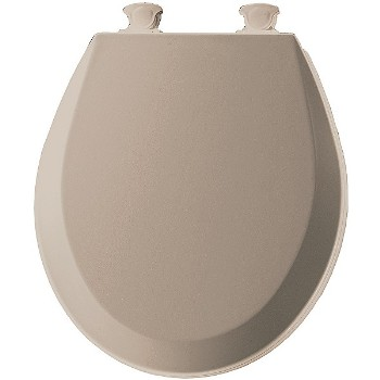 Toilet Seat, Round - Molded Wood, Fawn Beige