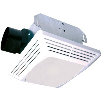 Air King Ventilation  693090 Exhaust Fan w/ Light, White ~ 70 CFM