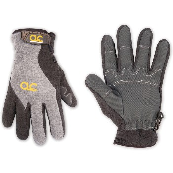 Med Gr/Blk Fleece Glove