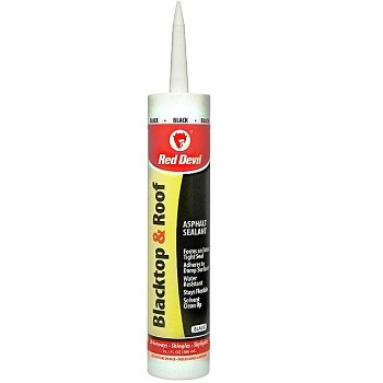 Blacktop & Roof Repair Caulk,  Black ~ 10.01 oz Tubes