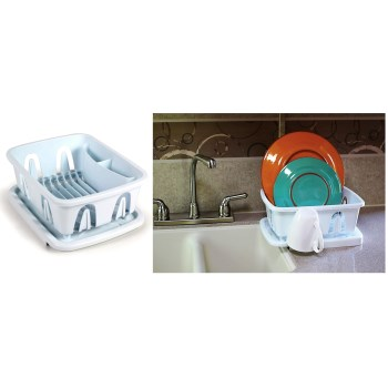 "Mini Dish Drainer,  White ~ Approx: 9.50"" x 11.69"" x 4.75"""