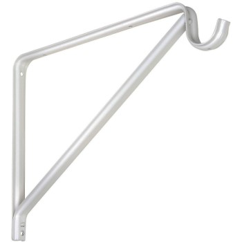 Shelf & Rod Bracket ~ White