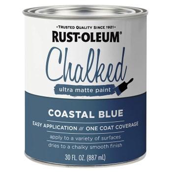 Rust-Oleum 329207 Chalked Ultra Matte Paint, Coastal Blue ~ 30 oz